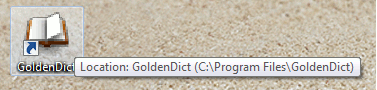 GoldenDict icon on your Desktop